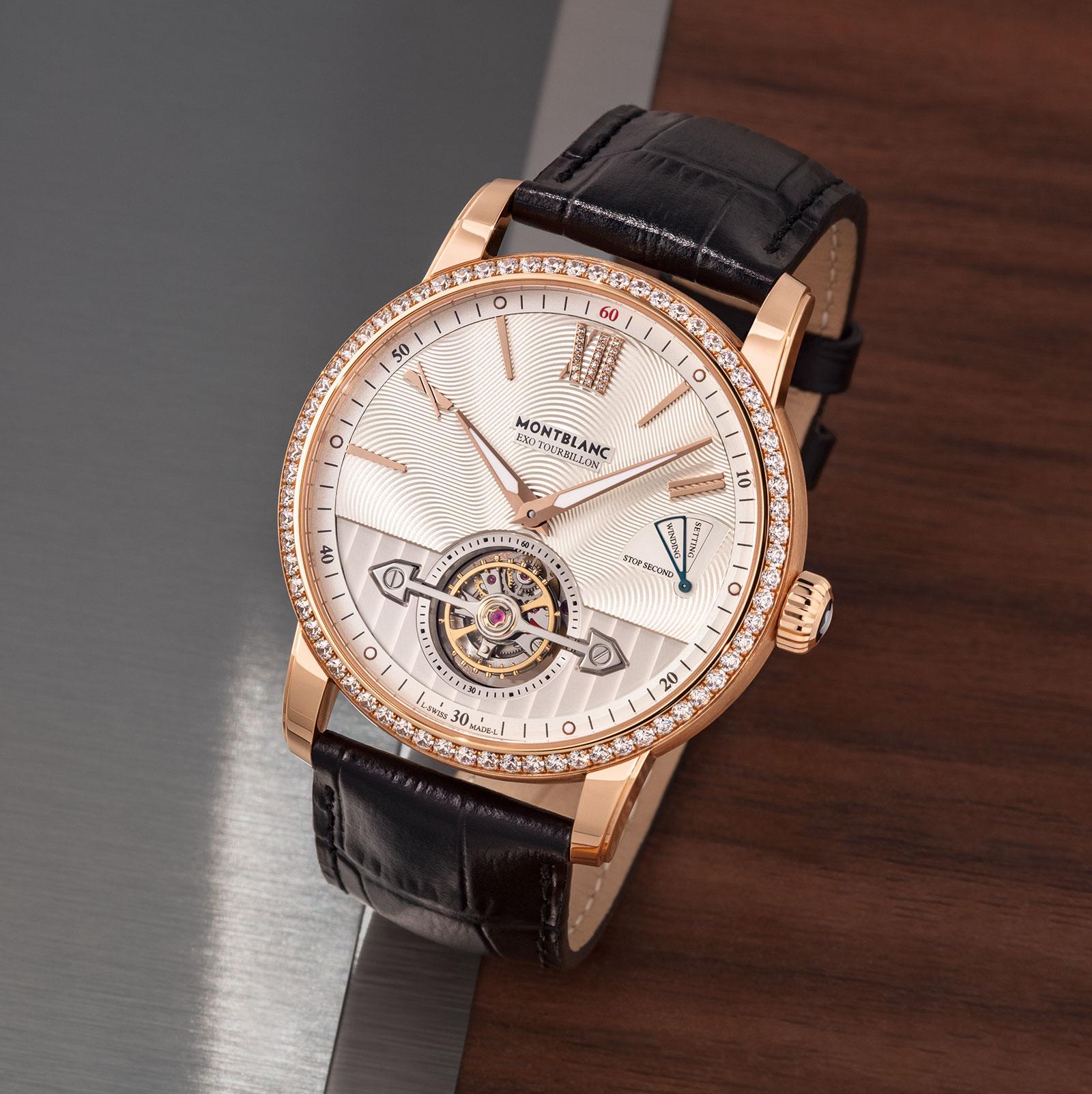 Montblanc 4810 ExoTourbillon Slim red gold diamonds