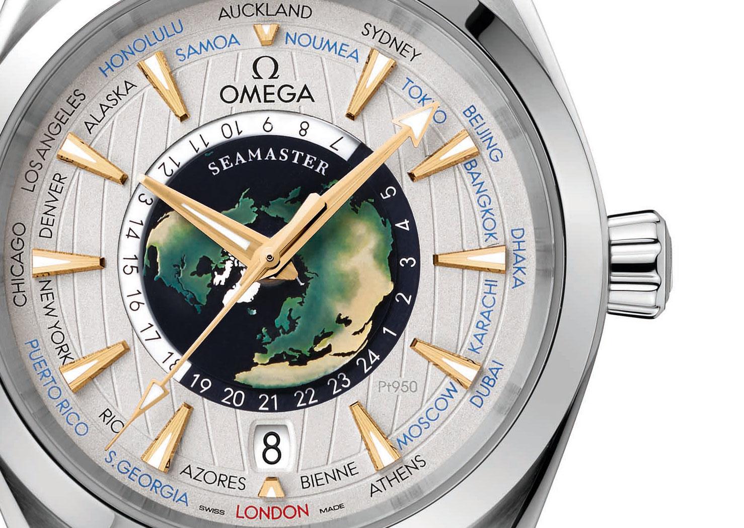 Omega Seamaster Aqua Terra Worldtimer platinum 1