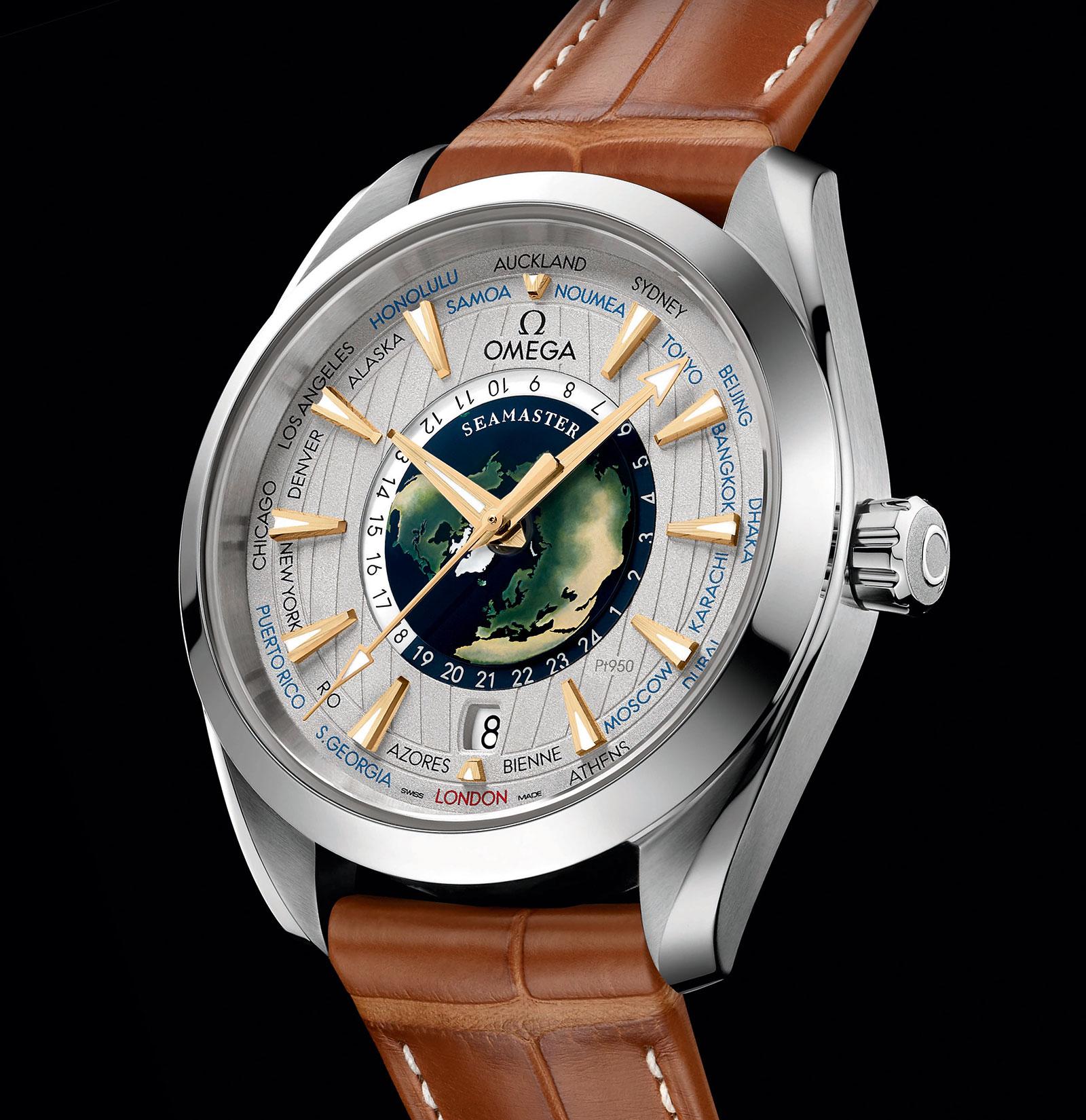 Omega Seamaster Aqua Terra Worldtimer platinum 2