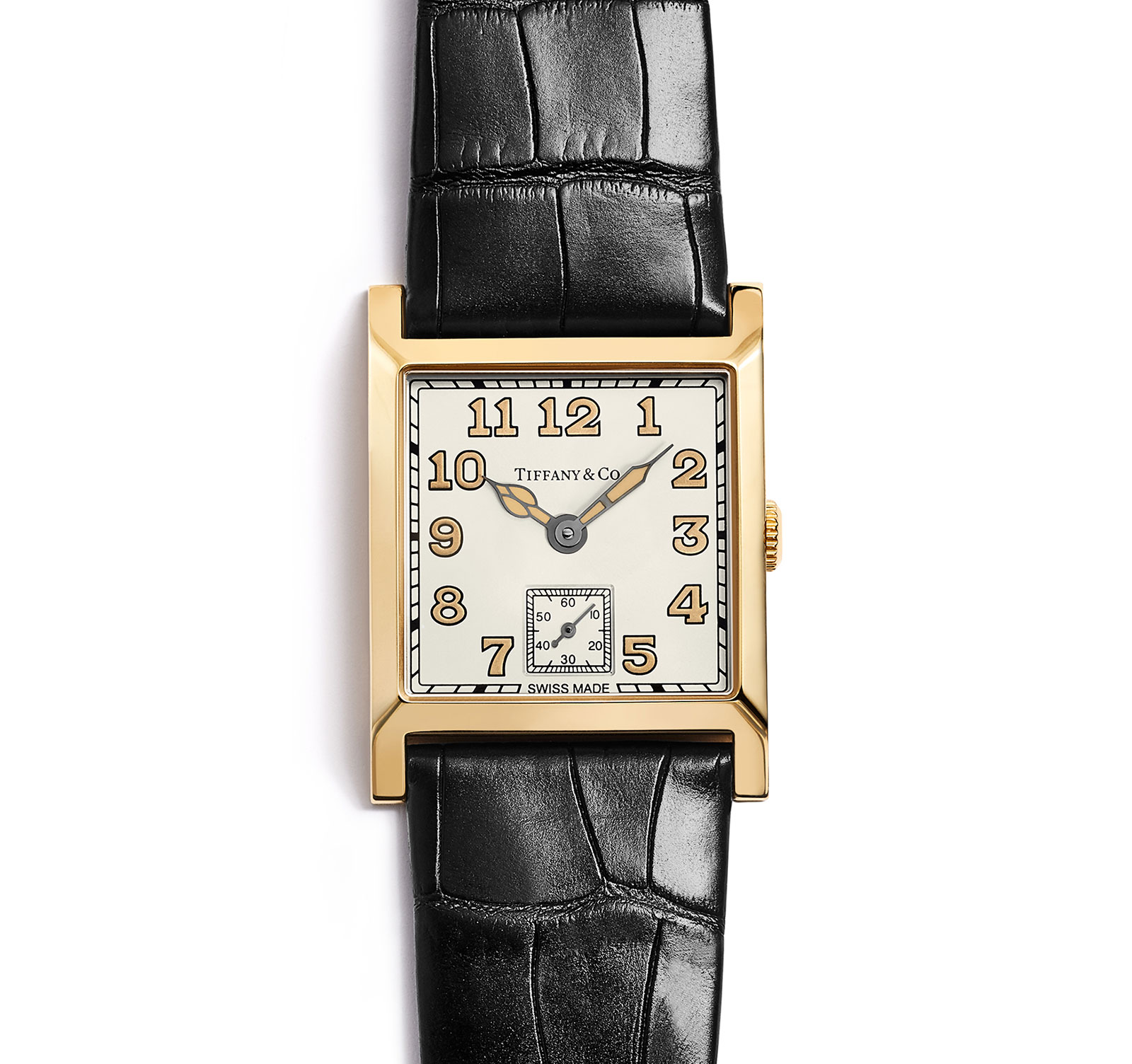 Tiffany Square Watch yellow gold 1