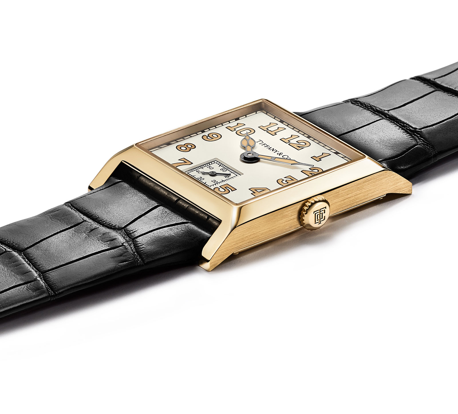 Tiffany Square Watch yellow gold 3