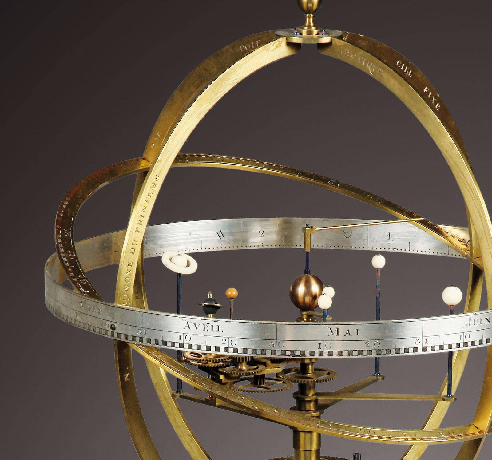 Antide Janvier armillary planetarium clock