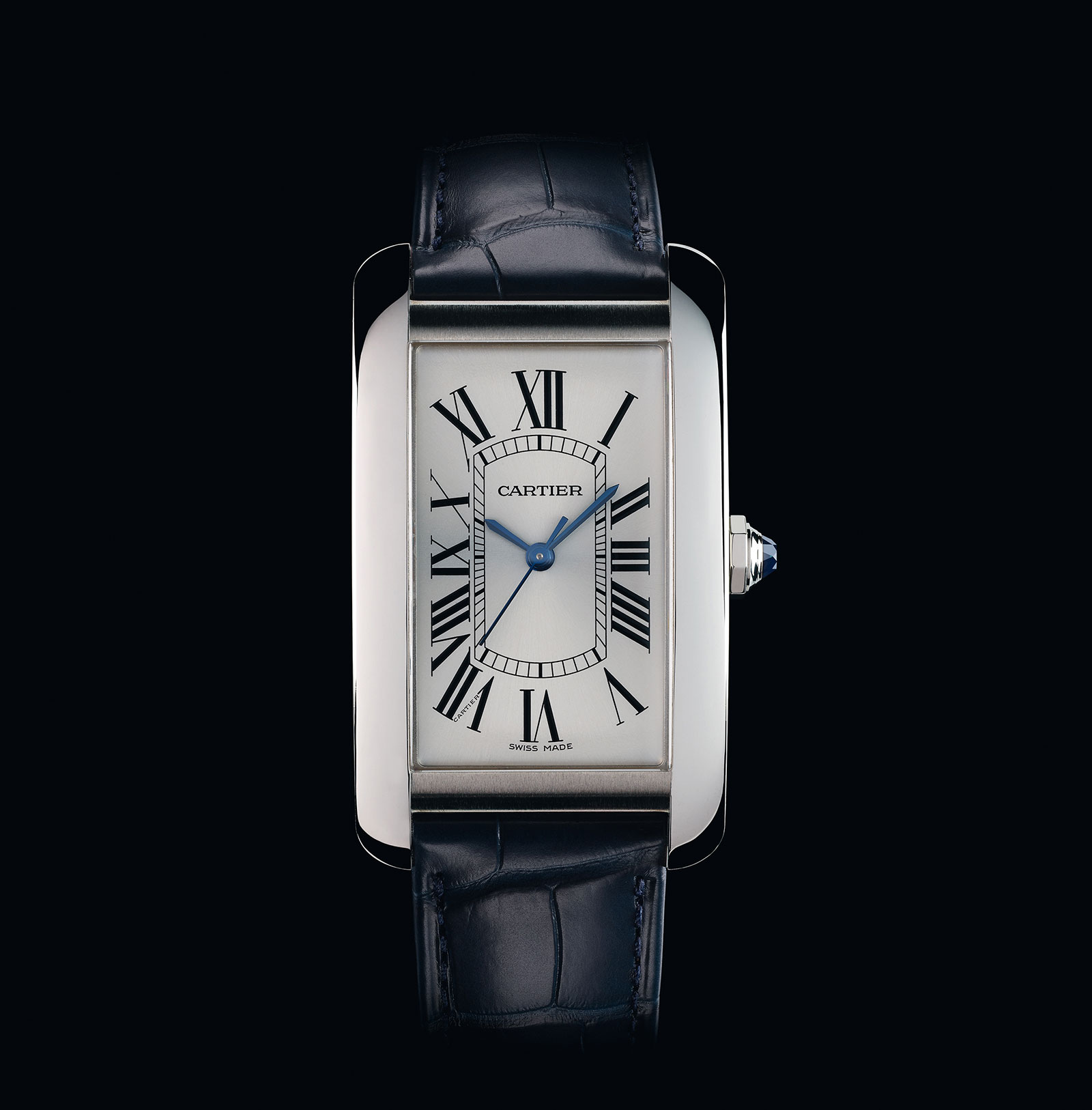 Cartier Tank Americaine steel large model