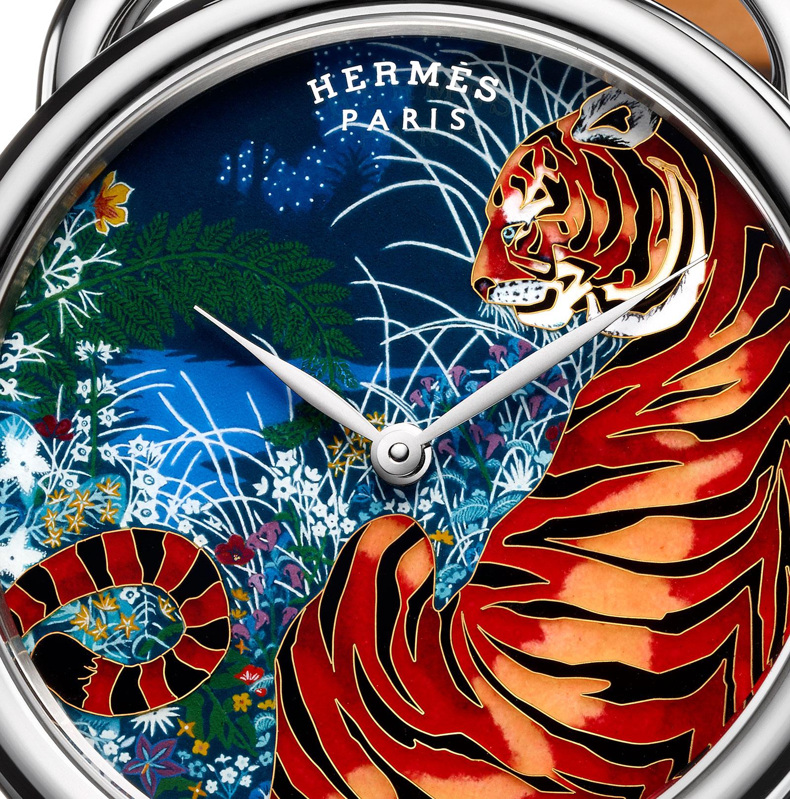 Hermes Arceau-Tyger-Tyger enamel