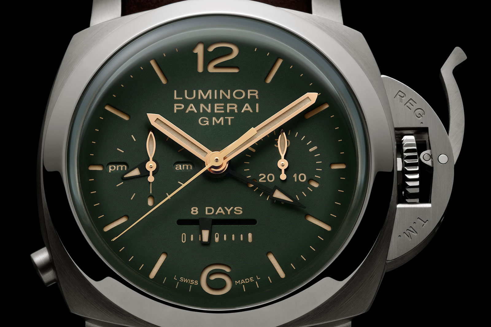 Panerai Luminor 1950 Chrono green dial PAM 737-1
