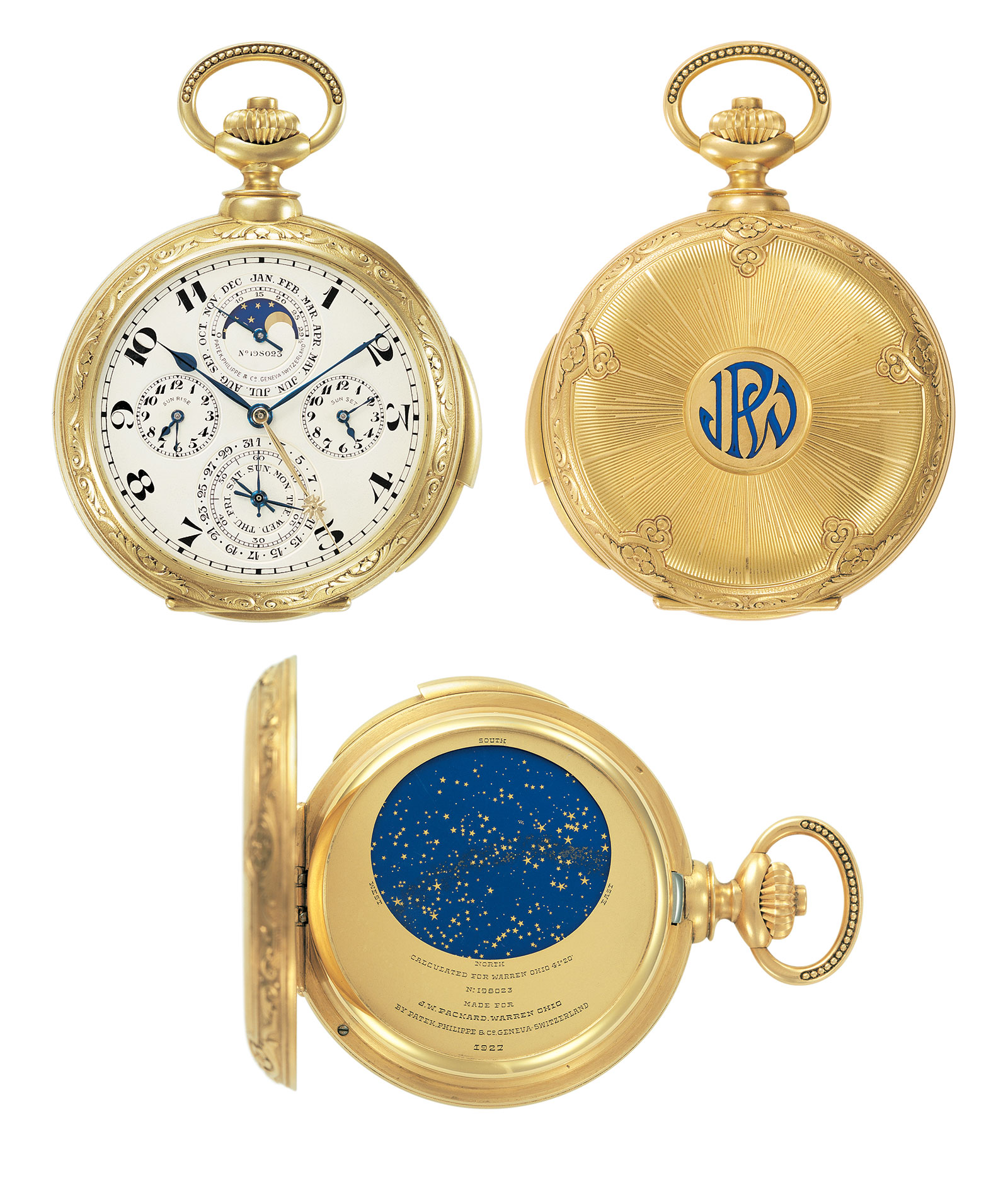 Patek James Ward Packard Astronomical Watch 1925