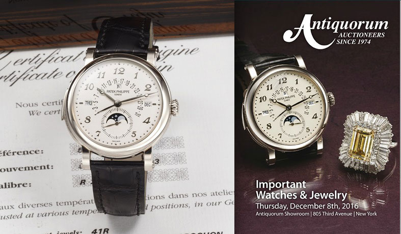 Antiquorum Dec 2016 Patek 5213