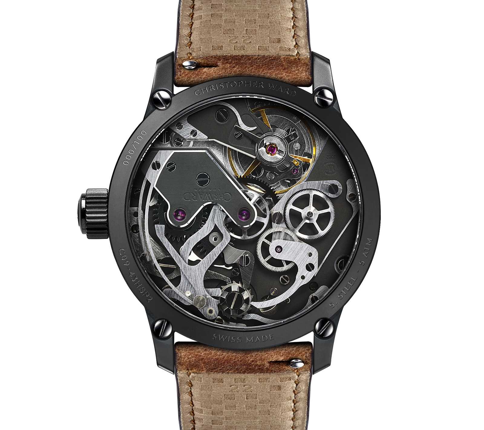 Christopher Ward C9 Me 109 Single Pusher Chronograph movement