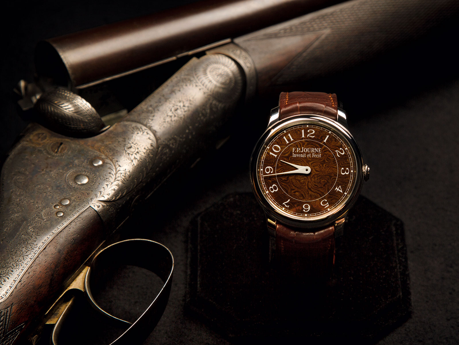 Holland And Holland >> F P Journe Crafts Watch Dials From Antique Holland Holland Rifle