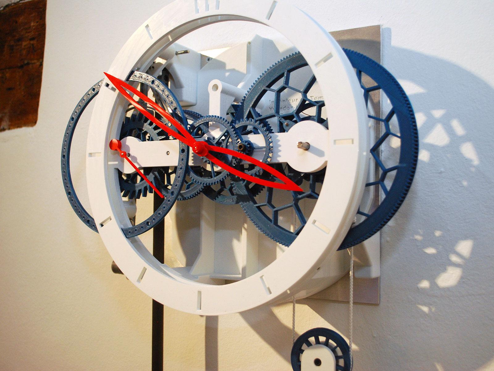 Ingénieur du Temps 3D printed pendulum clock 6