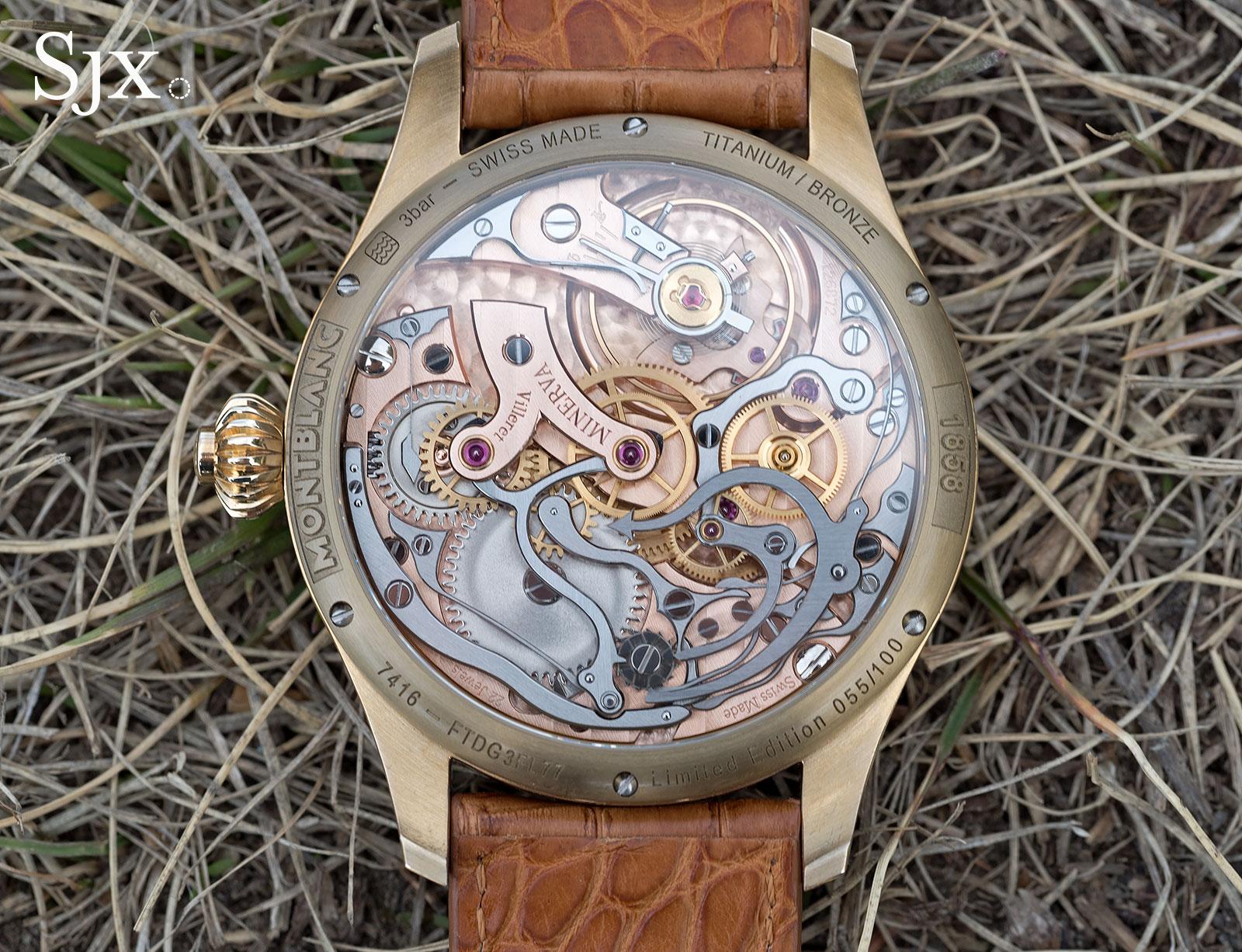 Montblanc 1858 Chronograph Tachymeter Salmon Bronze 4
