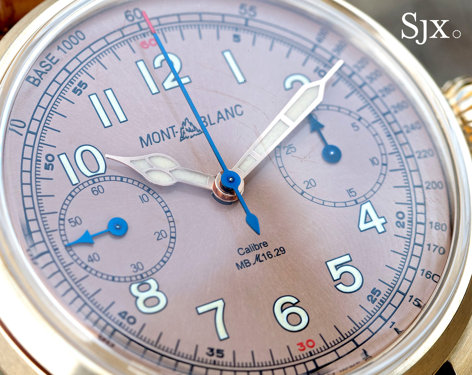 Montblanc 1858 Chronograph Tachymeter Salmon Bronze dial