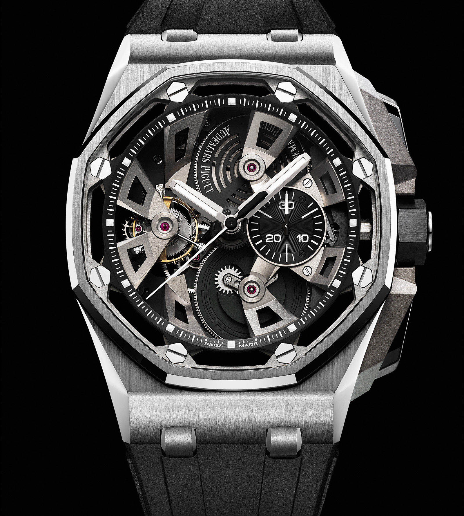 introducing the audemars piguet royal oak offshore tourbillon chronograph 25th anniversary sjx