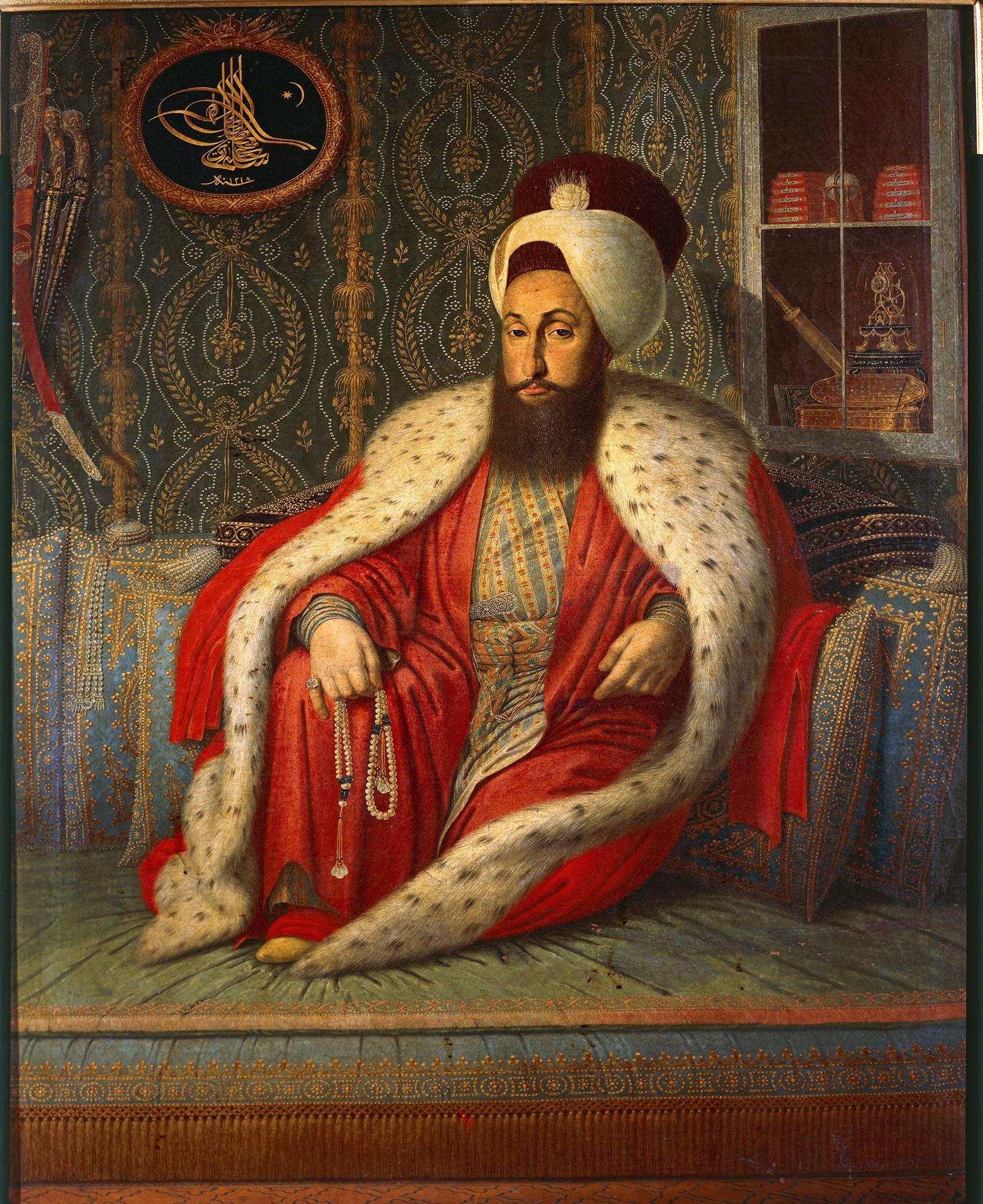 Portrait of the Sultan of the Ottoman Empire Selim III (1789–1807), Turkey, 18th century.