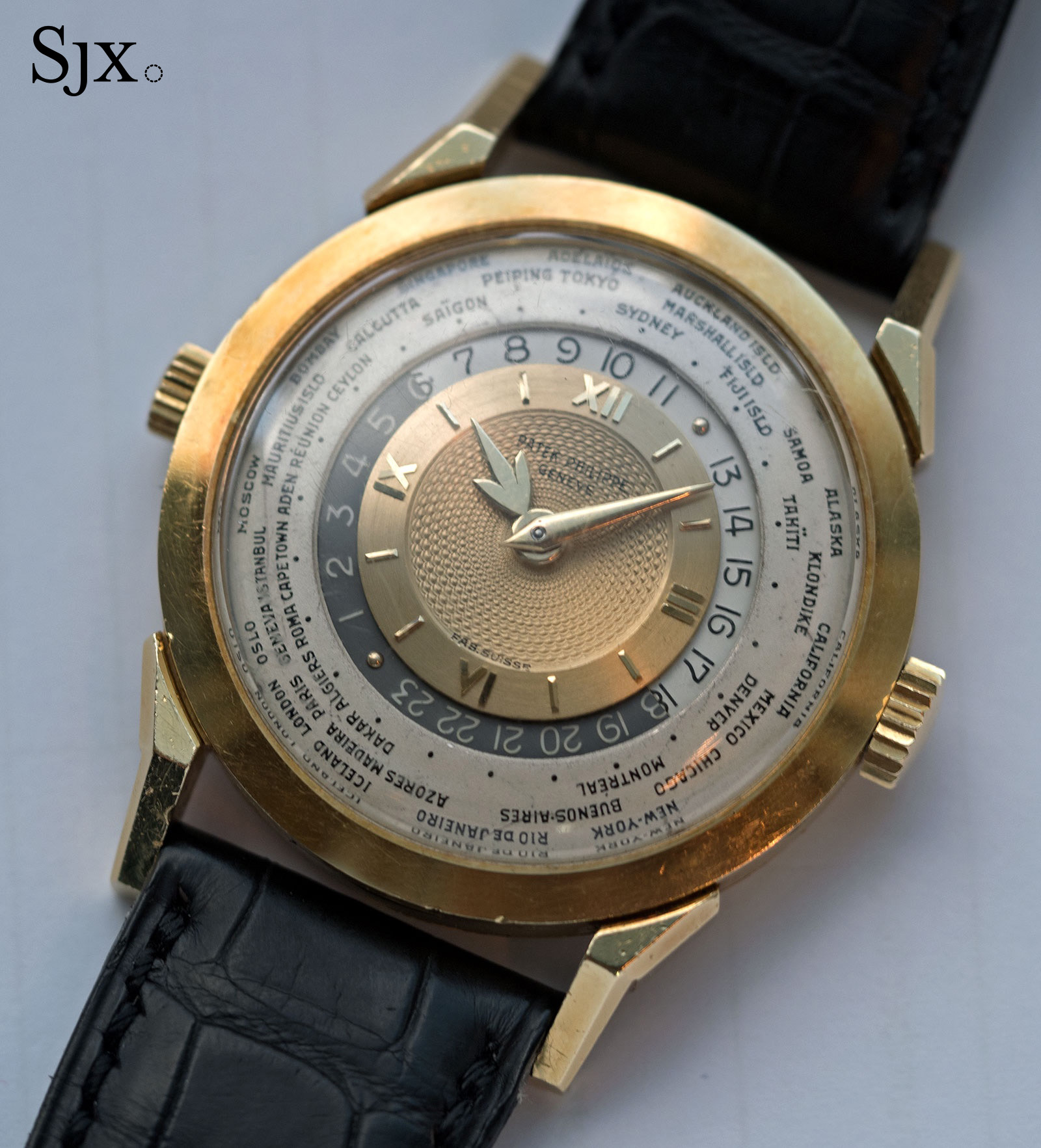 Patek 2523 guilloche world time