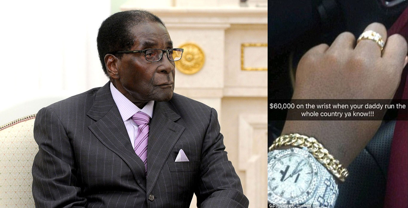 Robert Mugabe Diamond watch