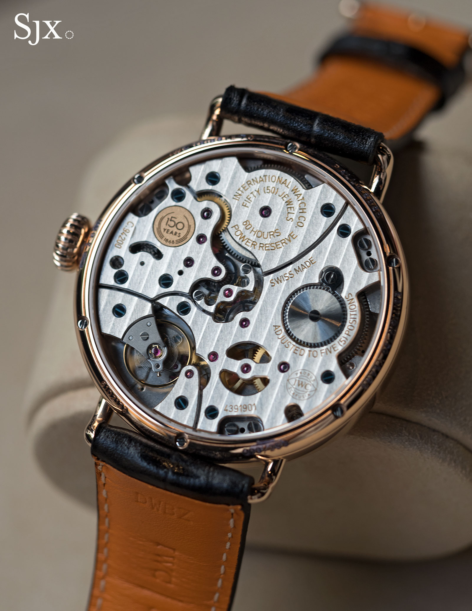 IWC Tribute to Pallweber 150 Years red gold 4