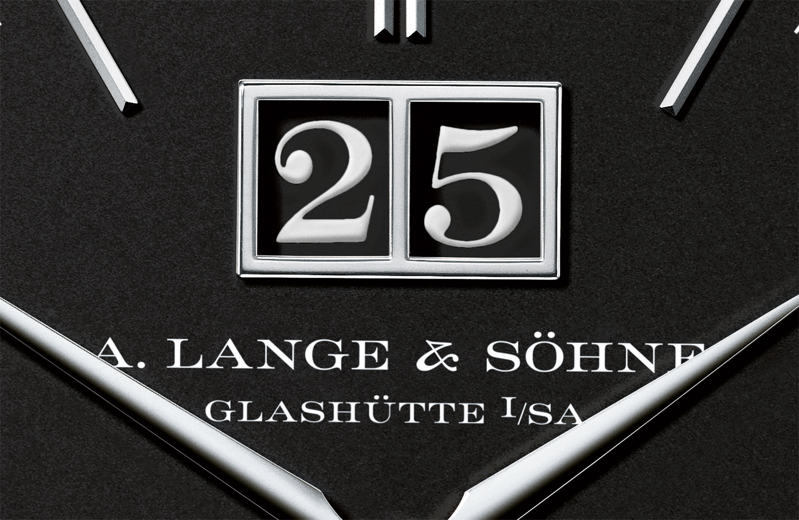 A. Lange & Söhne Saxonia moon phase black date disc