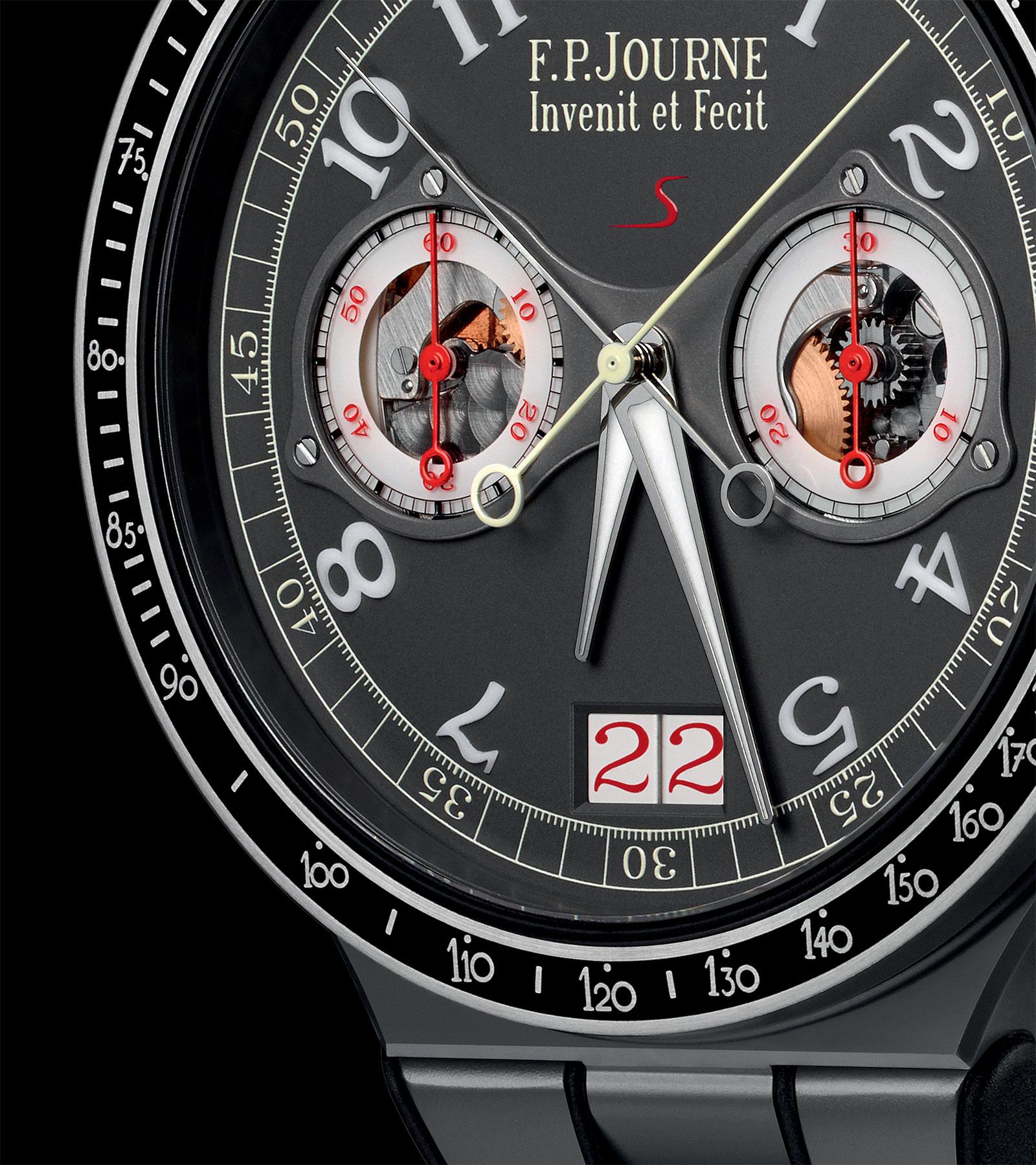 FP Journe Chronograph Monopoussoir Rattrapante titanium dial
