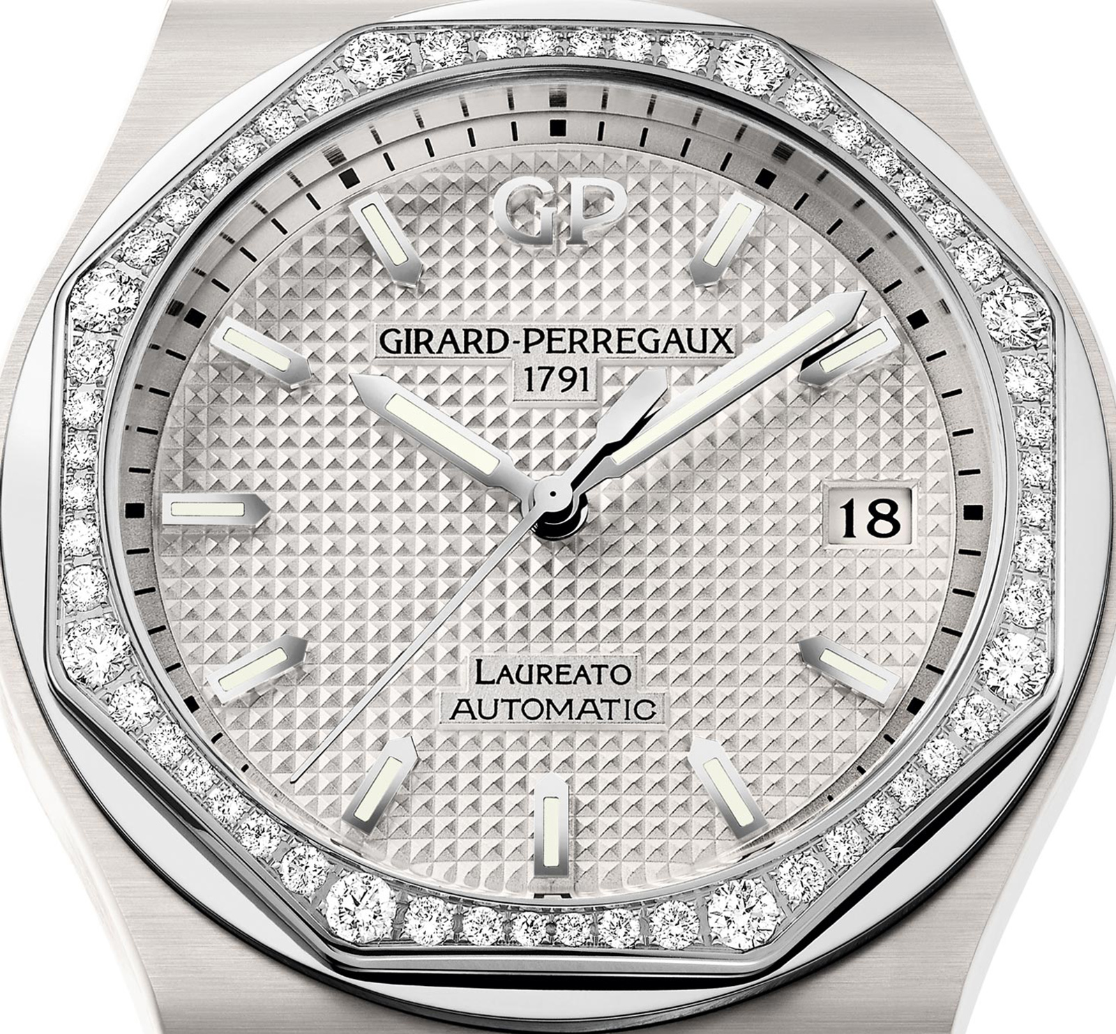 Girard-Perregaux 38mm White Ceramic Laureato