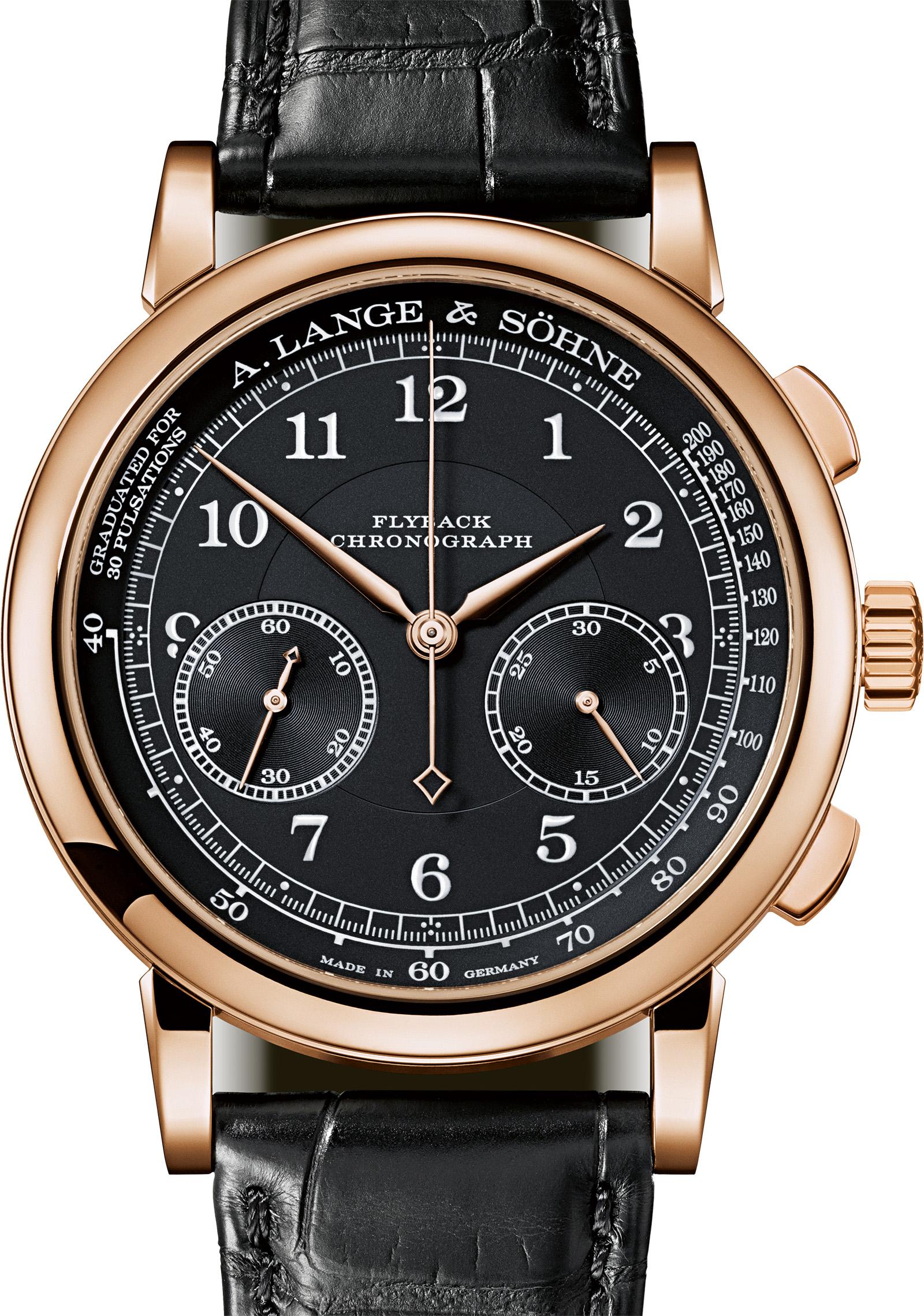 Lange 1815 Chronograph Pink Gold black dial