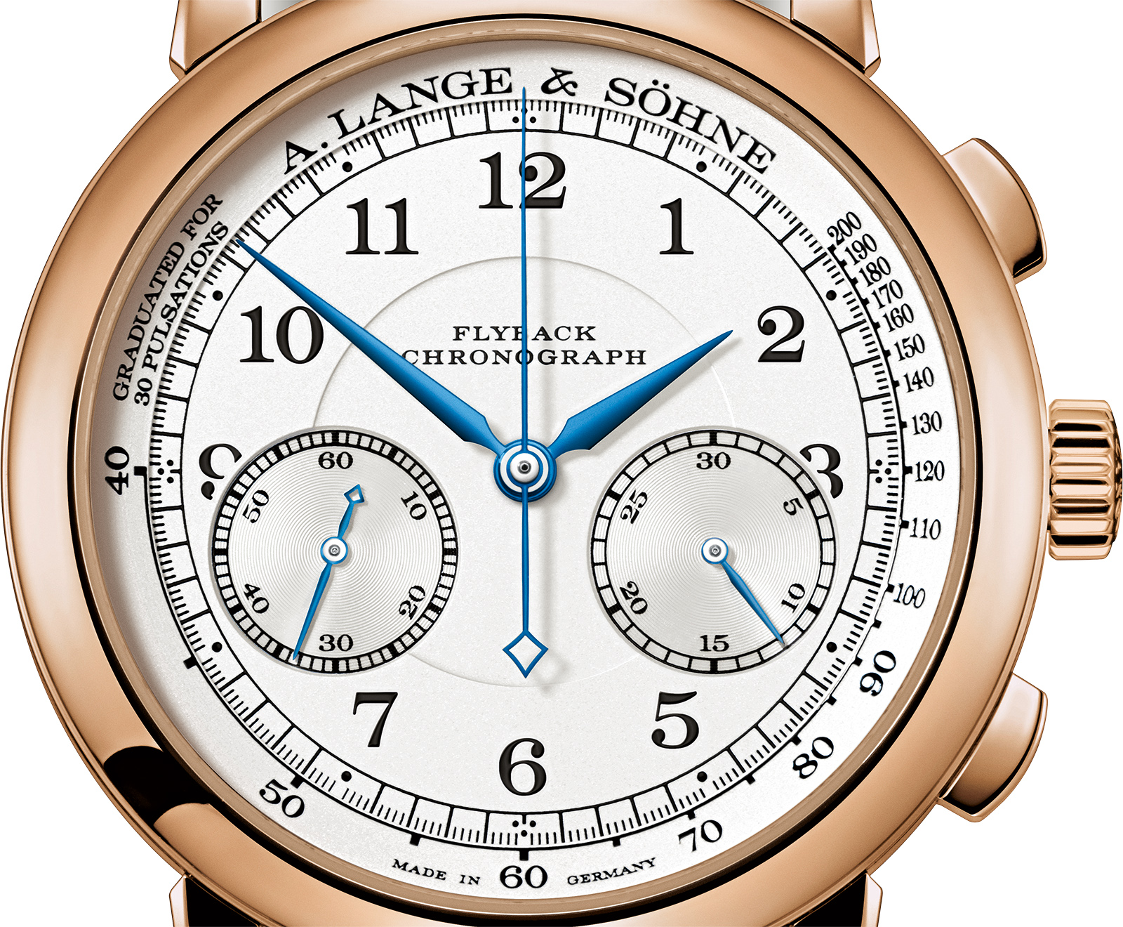 Lange 1815 Chronograph Pink Gold silver dial