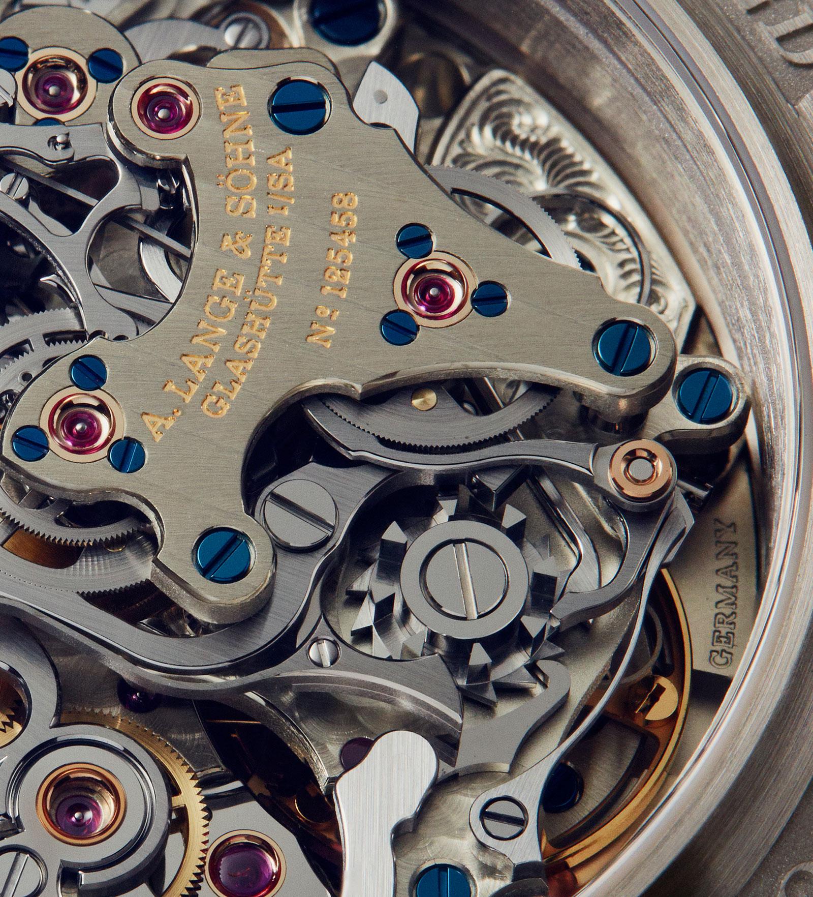 Lange Triple Split Chronograph detail 1