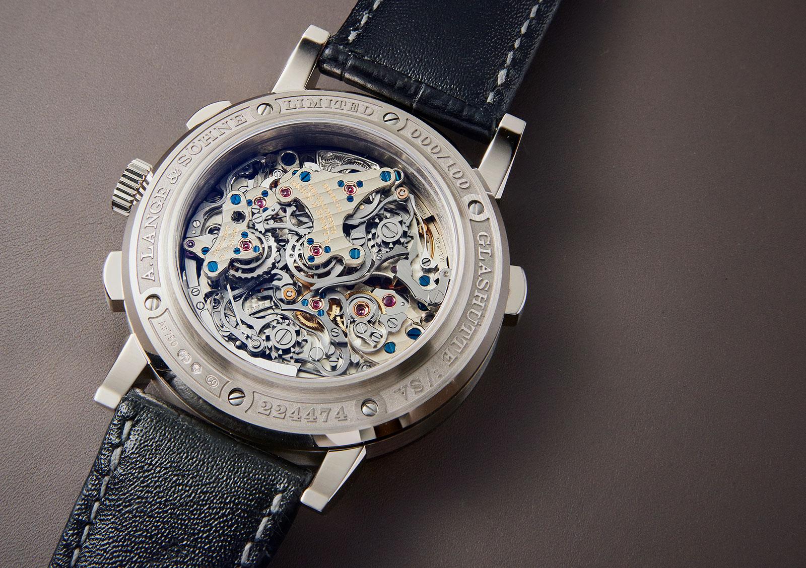Lange Triple Split Chronograph detail 4