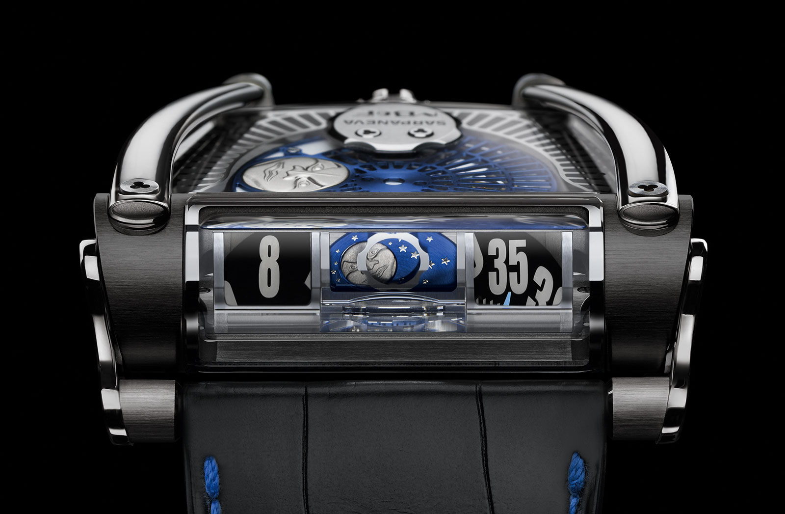 MB&F MoonMachine 2 black titanium front