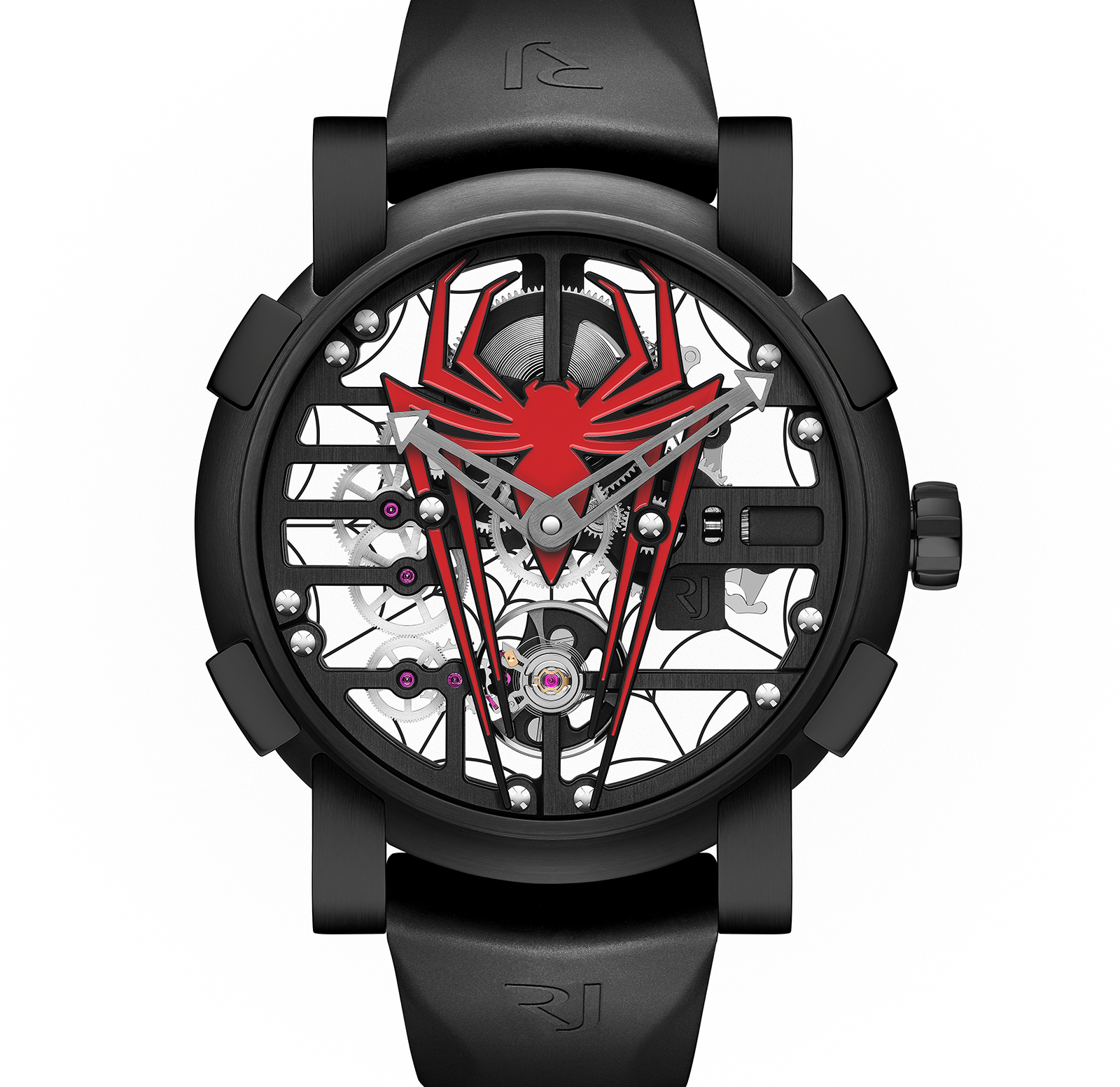 Sihh 2018 romain jerome puts spider man on the wrist sjx watches for Spiderman watches