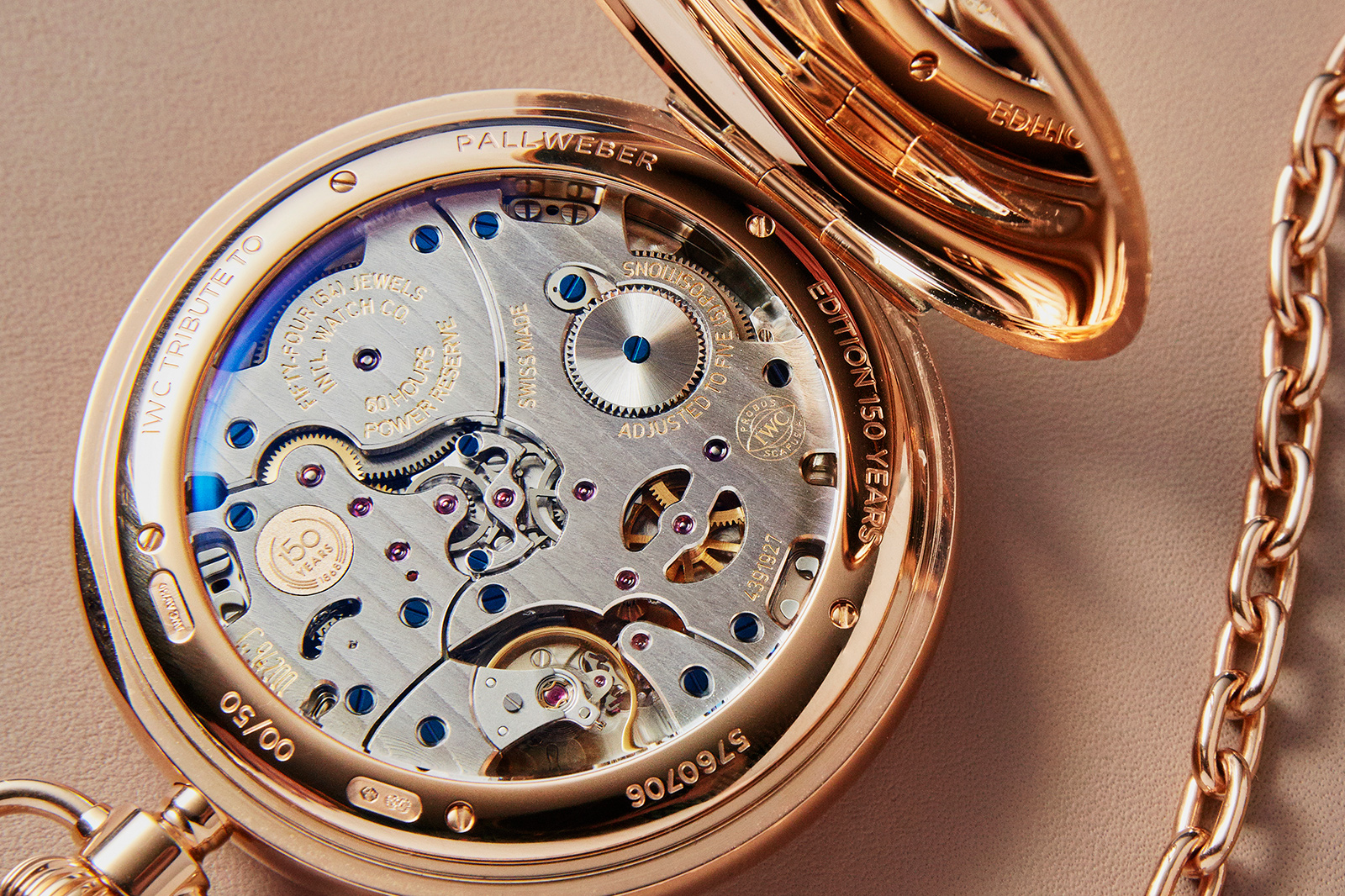 IWC Pallweber 150 Years Pocket Watch limited edition 1