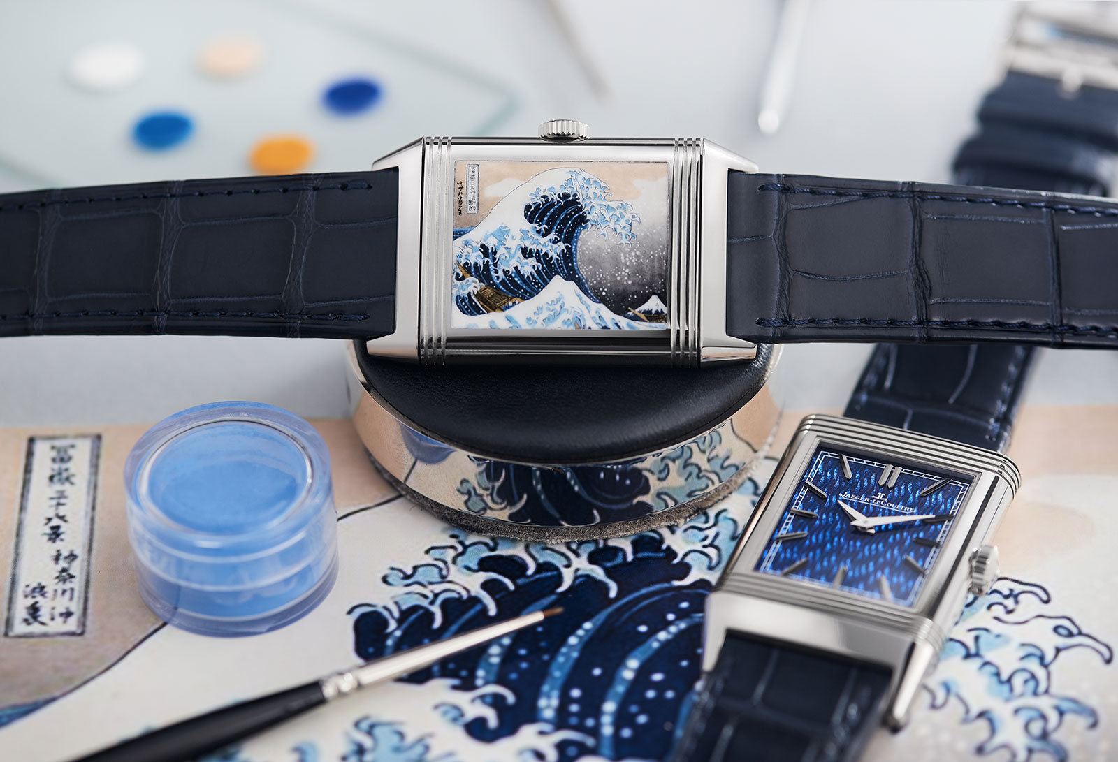 Jaeger-LeCoultre Reverso enamel Hokusai Great Wave Off Kanagawa