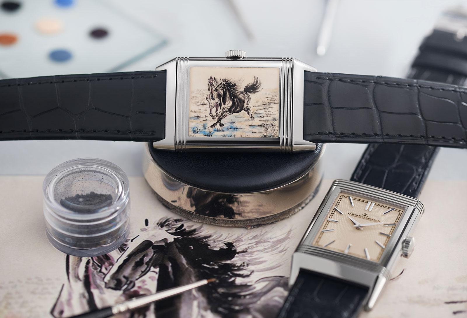 Jaeger-LeCoultre Reverso enamel Xu Beihong horse