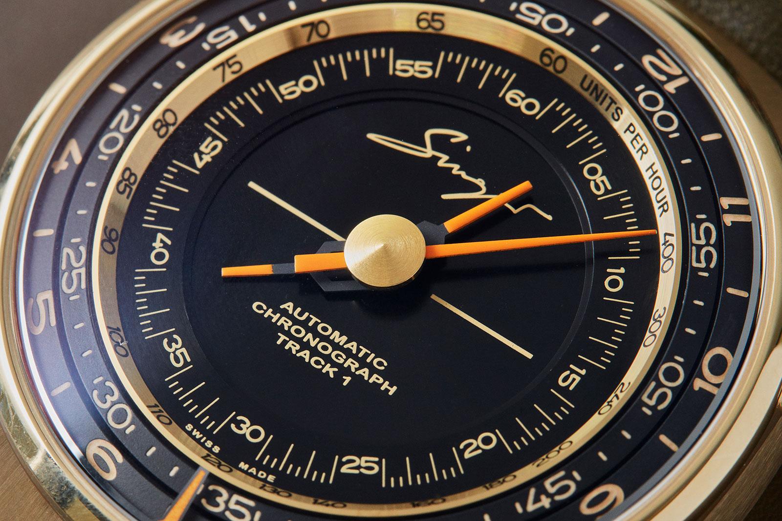 Singer Track 1 Geneva Edition gold chronograph 5