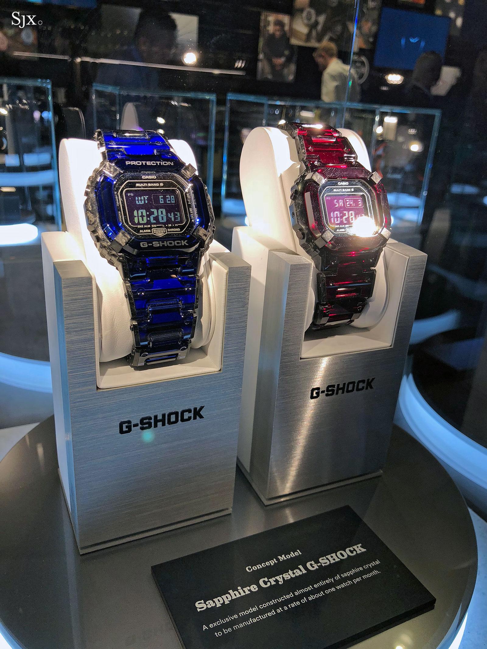 Casio G-Shock sapphire crystal case