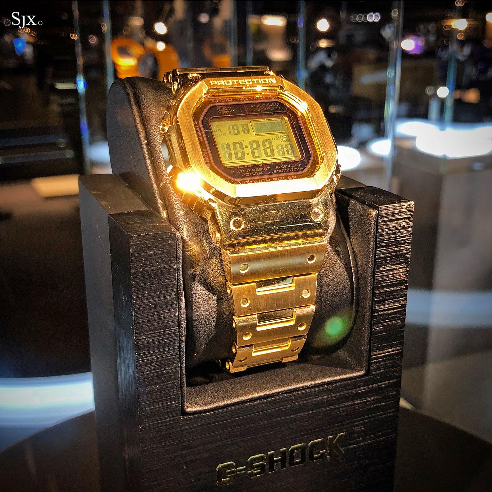 Casio G-Shock solid 18k gold