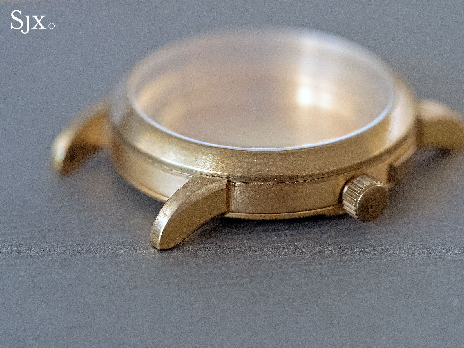 Lange early case prototype brass 1