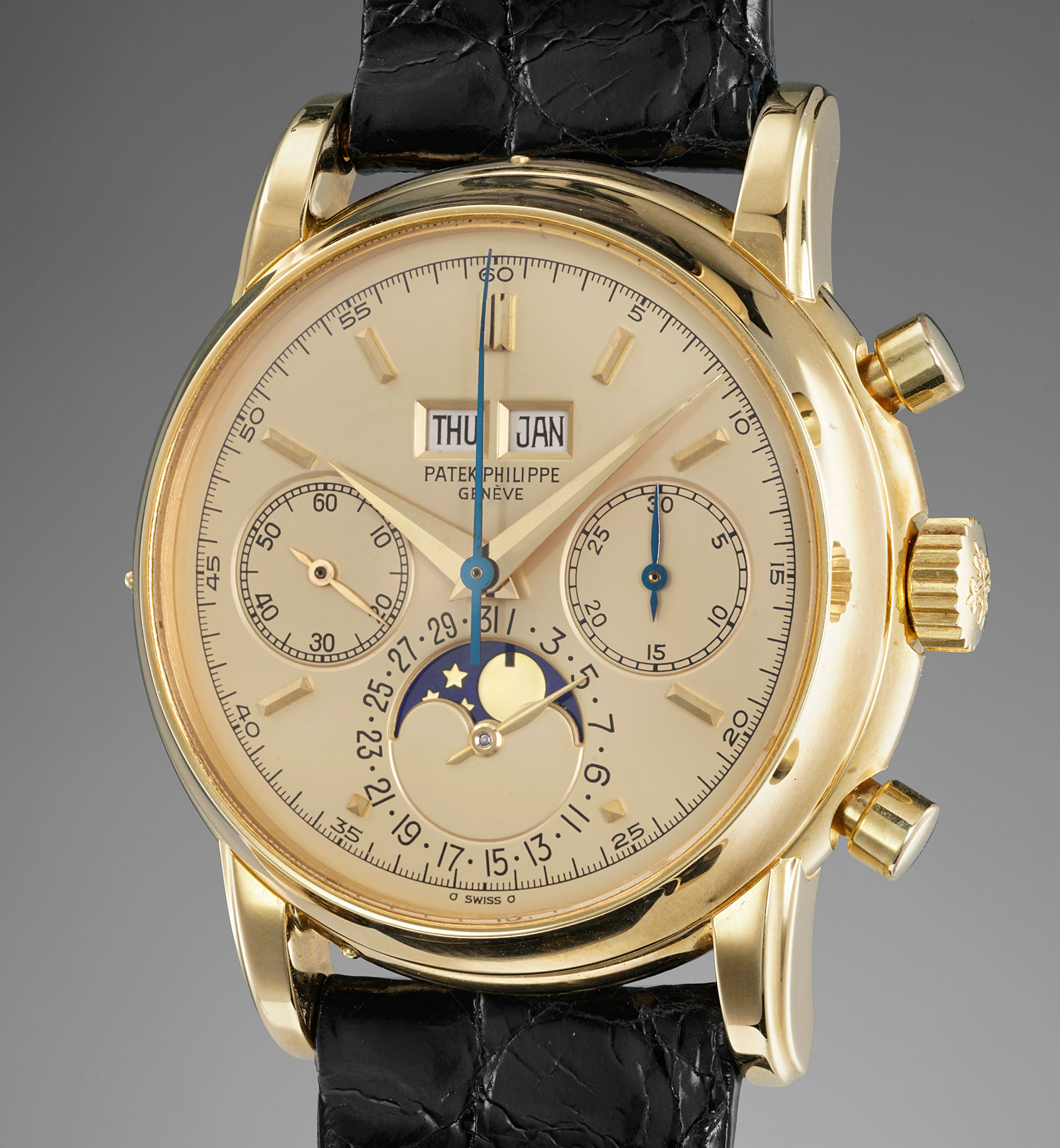Patek Philippe 2499 champagne dial Phillips 1