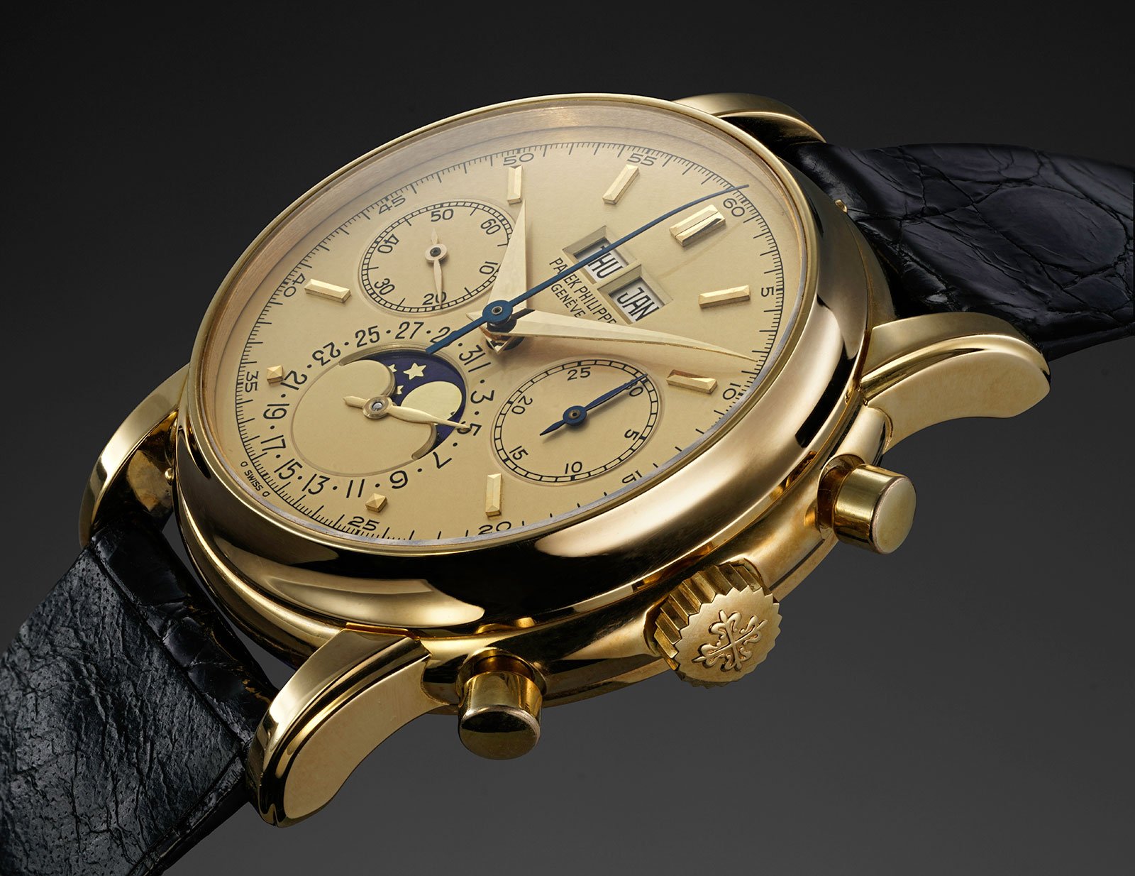 Patek Philippe 2499 champagne dial Phillips 2