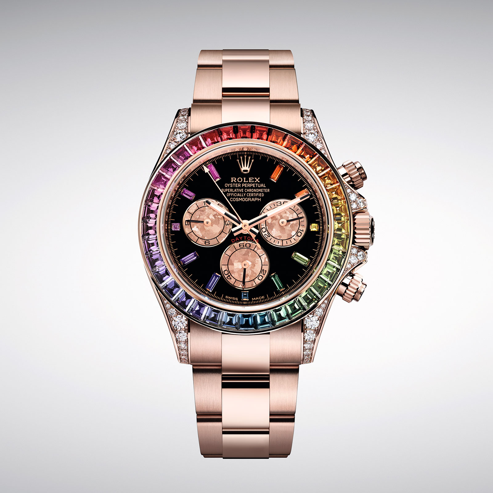 baselworld 2018 rolex introduces the daytona rainbow. Black Bedroom Furniture Sets. Home Design Ideas