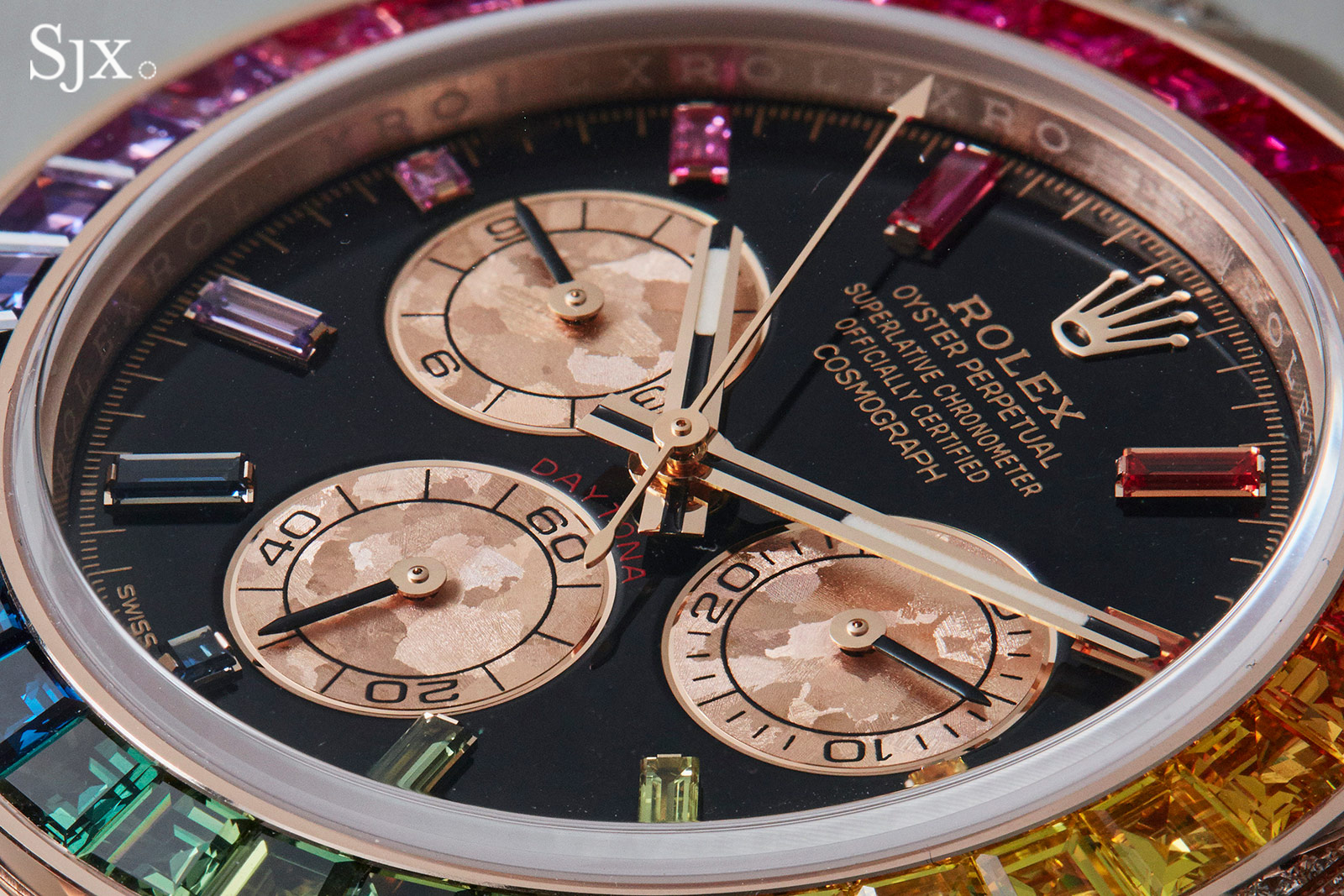 Up Close With The Rolex Daytona Rainbow In Everose Sjx