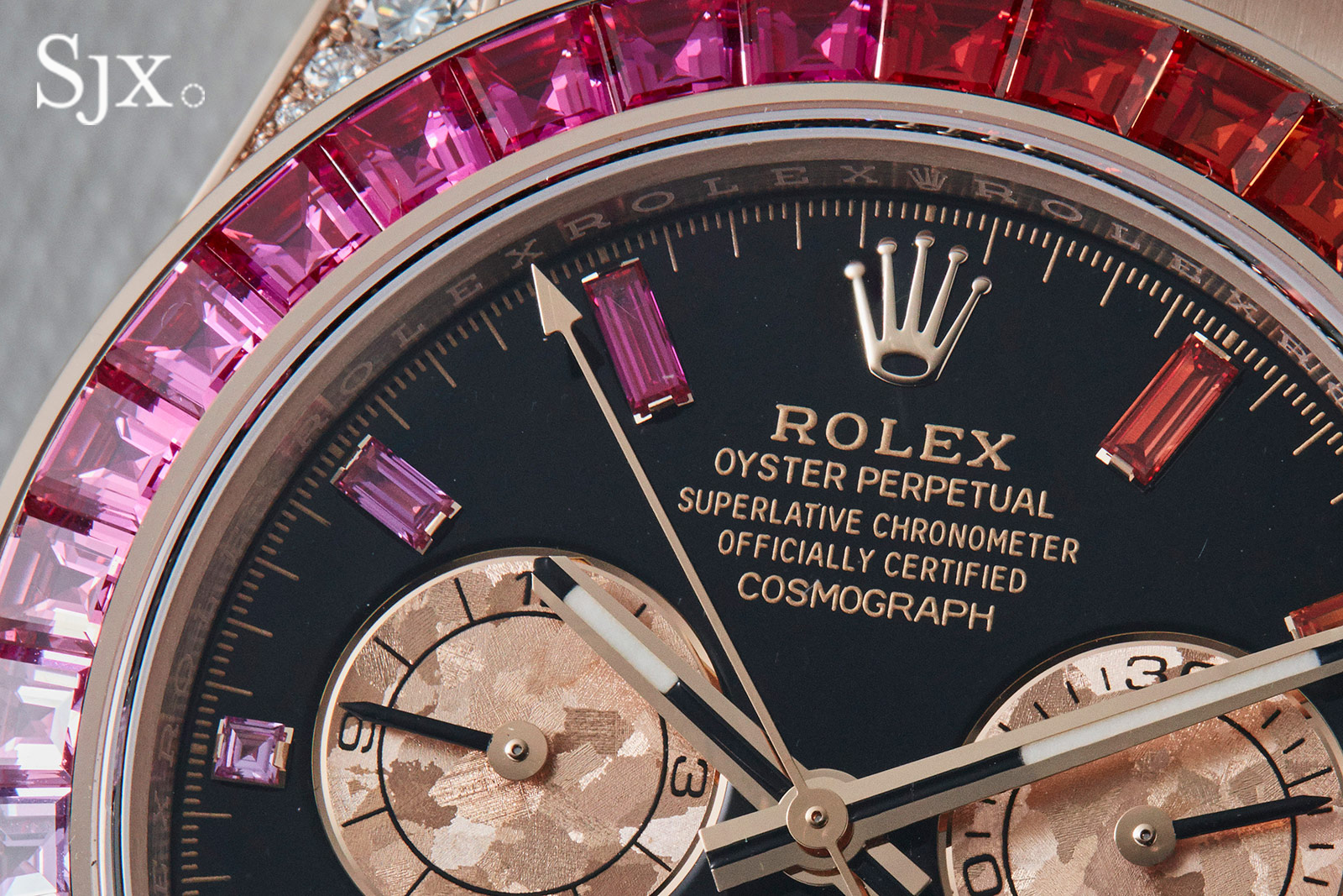 Up Close With The Rolex Daytona Rainbow In Everose