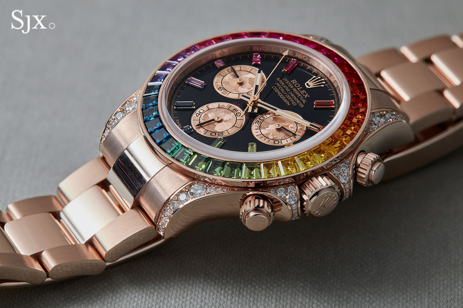 Up Close with the Rolex Daytona \u201cRainbow\u201d in Everose