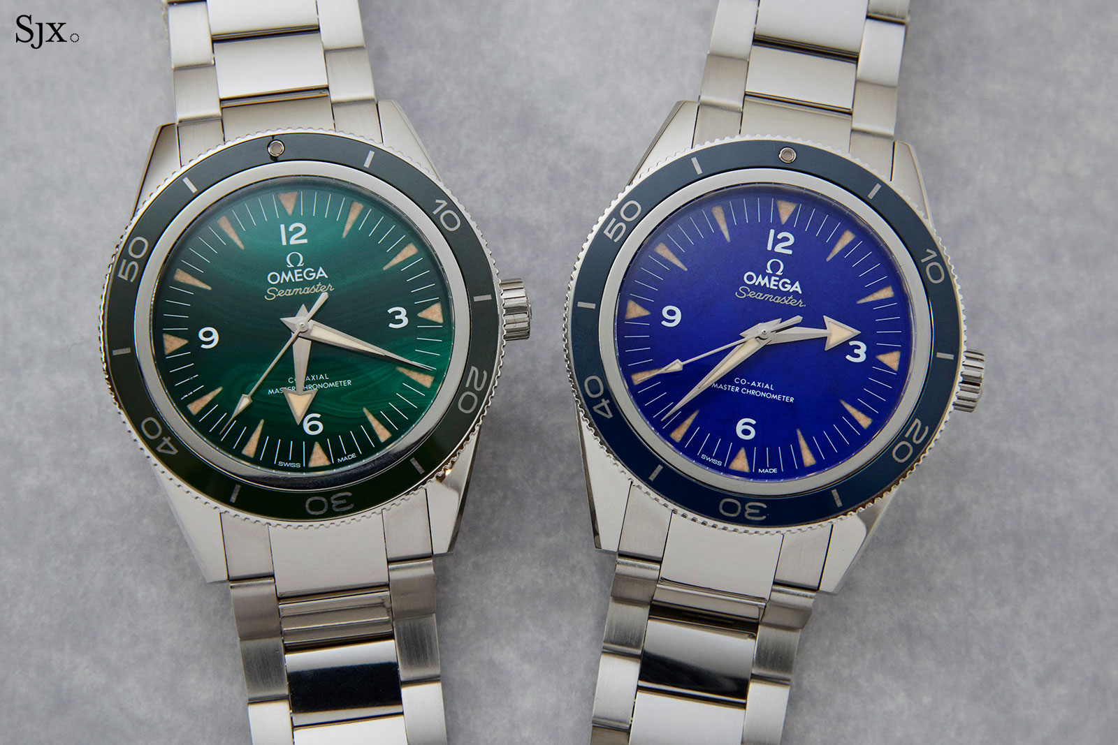 bff6e07a9afe Hands-On with the Omega Seamaster 300 Malachite and Lapis Lazuli ...