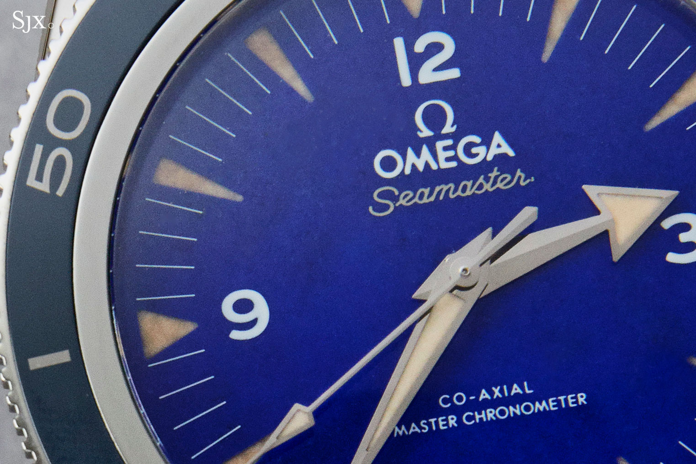 Omega Seamaster 300 platinum lapis lazuli