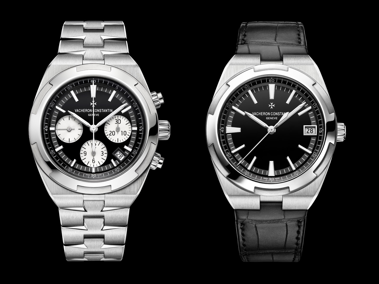 Vacheron Constantin Introduces the Overseas Automatic and Chronograph with Black Dials | SJX Watches