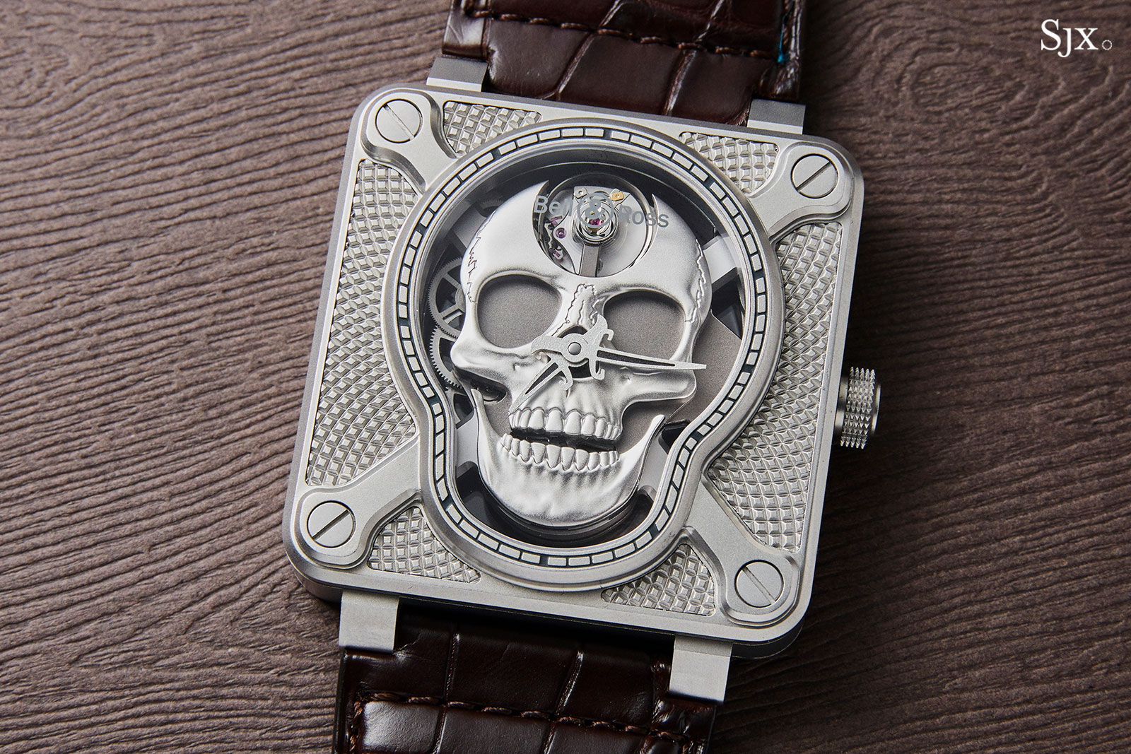 Bell Ross BR 01 Laughing Skull steel 1