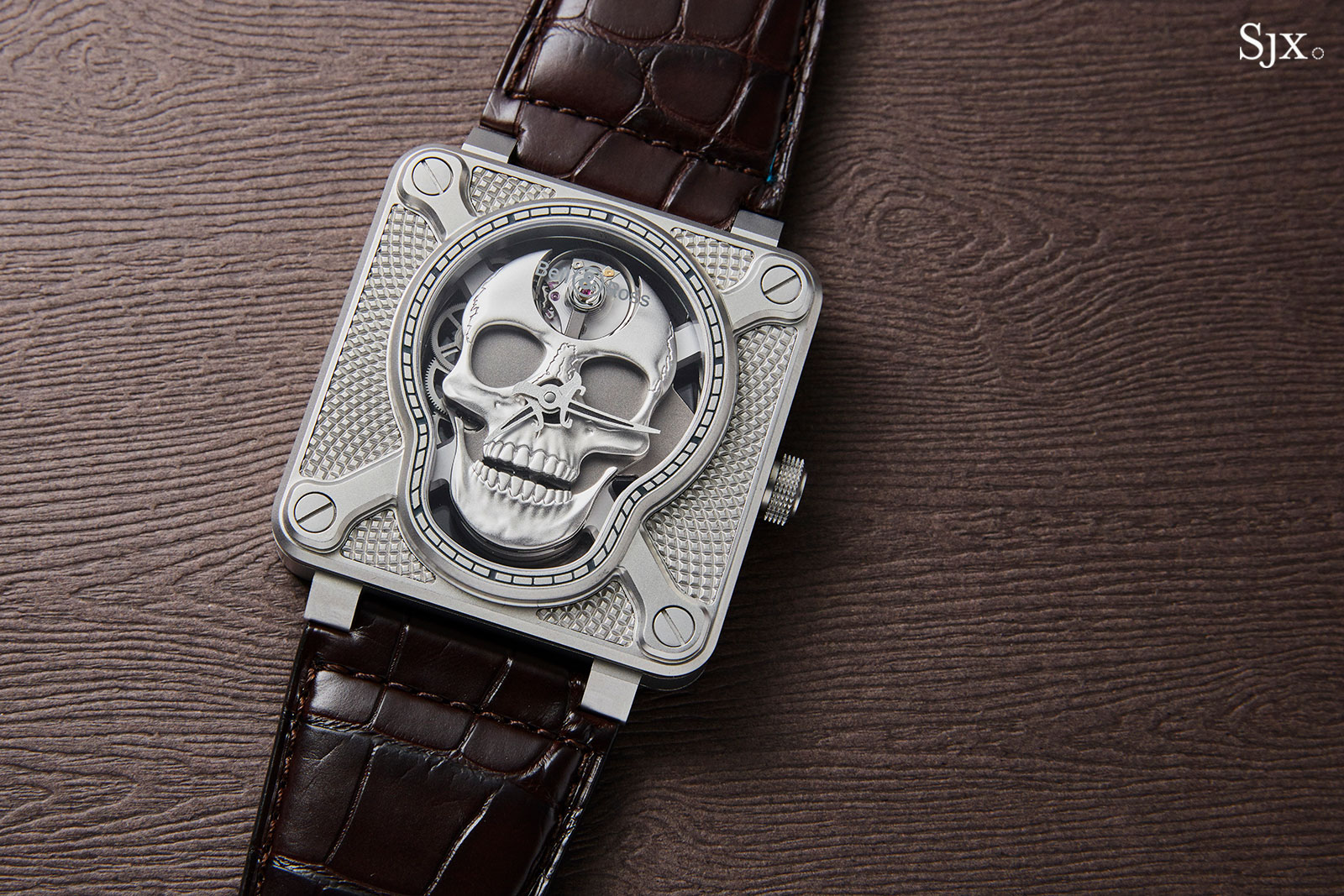 Bell Ross BR 01 Laughing Skull steel 3