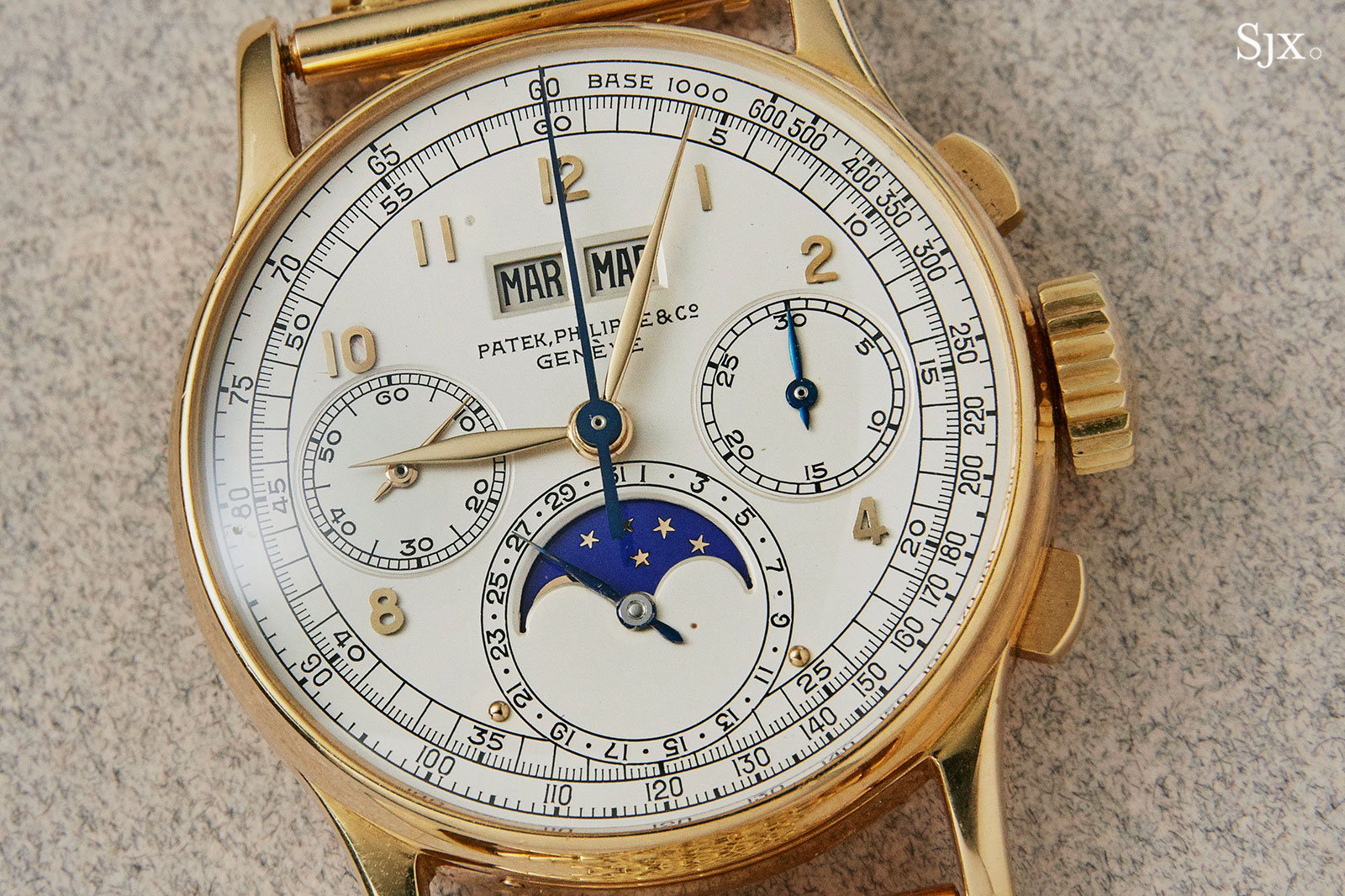 Patek 1518 yellow gold phillips HK 1