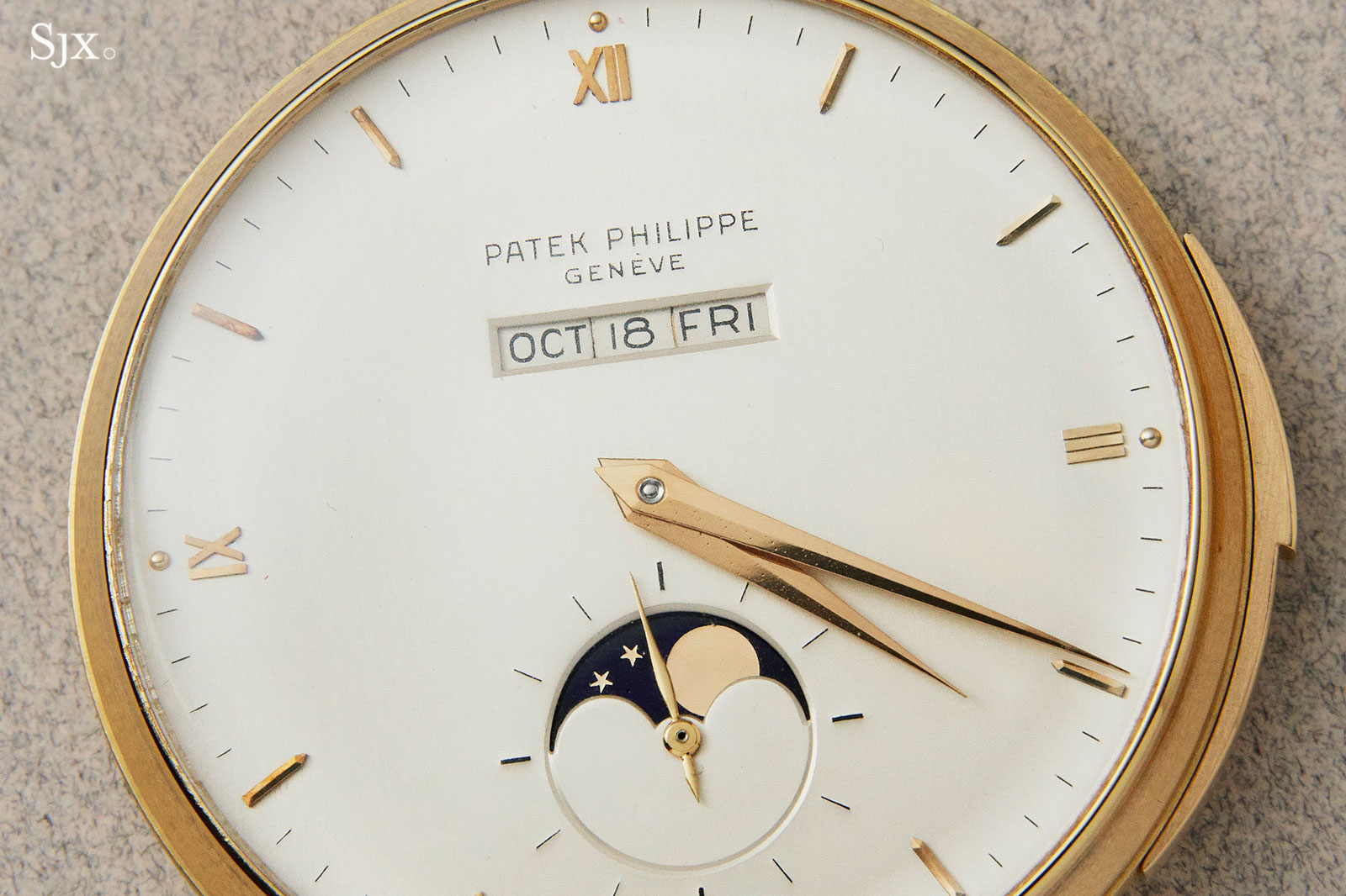Patek 699 pocket watch straight-line calendar 1
